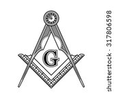 masonic freemasonry emblem icon ... | Shutterstock .eps vector #317806598