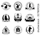 set of kennel club logo... | Shutterstock .eps vector #317809316