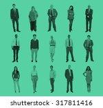 diverse people happiness... | Shutterstock . vector #317811416