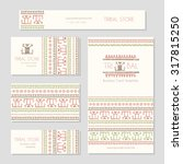 set of business card templates... | Shutterstock .eps vector #317815250