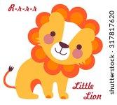 vector illustration of cute... | Shutterstock .eps vector #317817620