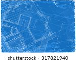 architecture blueprint   3d... | Shutterstock .eps vector #317821940