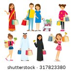 people and shopping | Shutterstock .eps vector #317823380