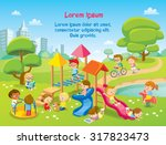 children playing in the... | Shutterstock .eps vector #317823473