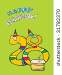 twenty eight year birthday... | Shutterstock .eps vector #31782370