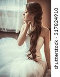 beautiful bride with stylish... | Shutterstock . vector #317824910