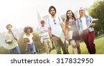 diversity teenagers friends... | Shutterstock . vector #317832950