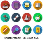 set of school icons in flat... | Shutterstock . vector #317835566