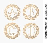 set of line vector monograms ... | Shutterstock .eps vector #317838920