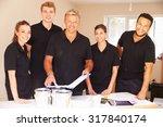 interior decorating team... | Shutterstock . vector #317840174