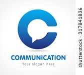 c letter communicate logo.... | Shutterstock .eps vector #317841836