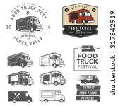 et of food truck festival... | Shutterstock .eps vector #317842919