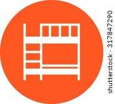 bunk  beds  bedroom icon vector ... | Shutterstock .eps vector #317847290