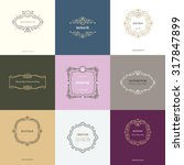 decorative frames. business...   Shutterstock .eps vector #317847899