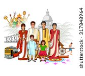 vector design of bengali family ... | Shutterstock .eps vector #317848964