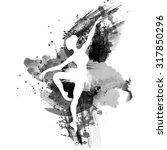 ballerina in dance. watercolor... | Shutterstock .eps vector #317850296