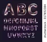 font alphabet symbols in style... | Shutterstock .eps vector #317852384