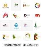 set of new universal company... | Shutterstock . vector #317853644