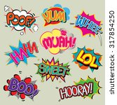 set of comic text  pop art... | Shutterstock .eps vector #317854250