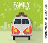 family vacation  car with... | Shutterstock .eps vector #317854358