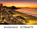 Copacabana Beach At Dawn  In...