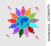 vector illustration of women... | Shutterstock .eps vector #317869070