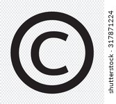 copyright symbol icon | Shutterstock .eps vector #317871224