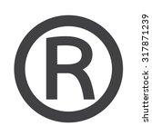 registered trademark icon | Shutterstock .eps vector #317871239