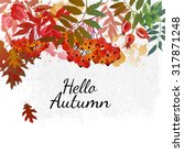 Hello Autumn. Autumn Vector...