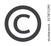 copyright symbol icon | Shutterstock .eps vector #317871290