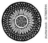 intricate flower mandala with... | Shutterstock .eps vector #317880944