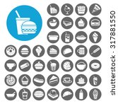 Snack Icons Set. Illustration...
