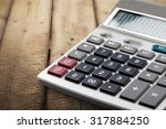 office calculator. | Shutterstock . vector #317884250