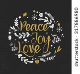 merry christmas background with ... | Shutterstock .eps vector #317886980