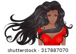 vector illustration portrait of ... | Shutterstock .eps vector #317887070
