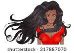 vector illustration portrait of ...   Shutterstock .eps vector #317887070