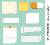 note pad and paper set | Shutterstock .eps vector #317891234