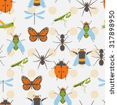 insects icons set. flat vector... | Shutterstock .eps vector #317898950