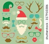 hipster style christmas...   Shutterstock .eps vector #317910386