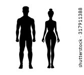 man and woman icon body figure... | Shutterstock . vector #317911388