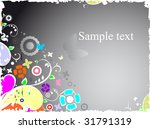 Colored  background with a place for  text - stock vector