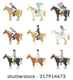 Stock vector horse riding lessons vector illustration in a flat style 317914673