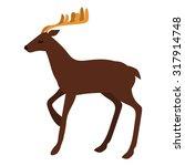 flat deer illustration | Shutterstock .eps vector #317914748