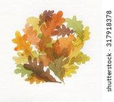 Fall Dance. Watercolor.