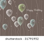 card with balloons | Shutterstock . vector #31791952