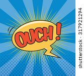 ouch  wording sound effect for...   Shutterstock .eps vector #317921294