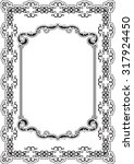 the ornate nice frame is on... | Shutterstock . vector #317924450
