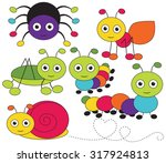 crawling bugs | Shutterstock .eps vector #317924813