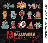 happy halloween day scary and... | Shutterstock .eps vector #317924930