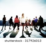 business people rush hour... | Shutterstock . vector #317926013